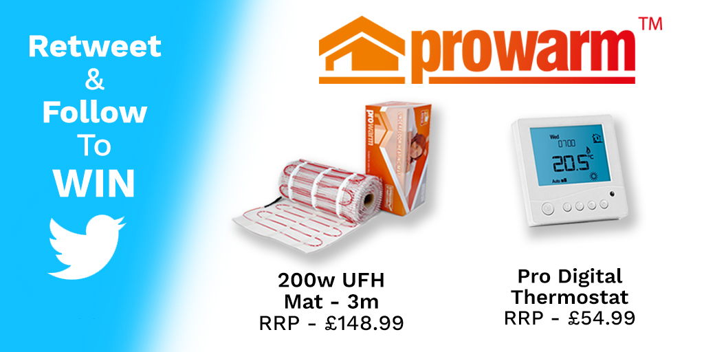 Competition win a prowarm electric underfloor heating kit the competition win a prowarm electric underfloor heating kit the plumbnation blog asfbconference2016 Gallery